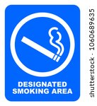 designated smoking area sign.... | Shutterstock .eps vector #1060689635