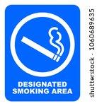 Designated Smoking Area Sign....