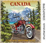 vintage canada motorcycle... | Shutterstock .eps vector #1060692998
