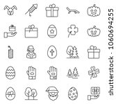 thin line icon set   work glove ... | Shutterstock .eps vector #1060694255