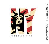 liberty statue vector logo... | Shutterstock .eps vector #1060695572