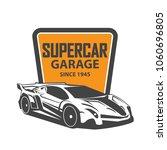 sports car logo template.... | Shutterstock .eps vector #1060696805