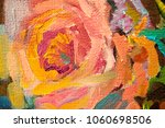 artists oil paints multicolored ... | Shutterstock . vector #1060698506