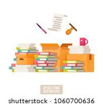 paper documents and file... | Shutterstock .eps vector #1060700636