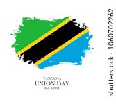 tanzania union day  26 april... | Shutterstock . vector #1060702262