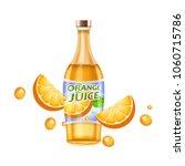 orange juice ads  vector... | Shutterstock .eps vector #1060715786