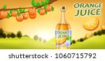orange juice ads  vector... | Shutterstock .eps vector #1060715792