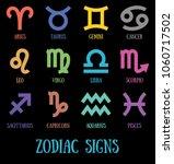 zodiac signs  aquarius  virgo ... | Shutterstock .eps vector #1060717502
