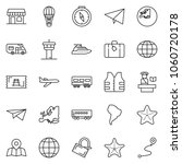 thin line icon set   paper... | Shutterstock .eps vector #1060720178