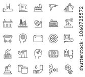 thin line icon set   gear head... | Shutterstock .eps vector #1060725572