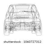 concept of family car. family.... | Shutterstock . vector #1060727312