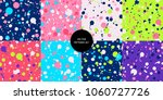paint stains patterns. ink... | Shutterstock .eps vector #1060727726