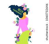 a beautiful dreamy girl as a... | Shutterstock .eps vector #1060732646