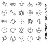 thin line icon set   circle... | Shutterstock .eps vector #1060736045