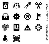 solid vector icon set   garland ... | Shutterstock .eps vector #1060737935