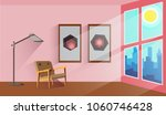 interior of spacious room with... | Shutterstock .eps vector #1060746428