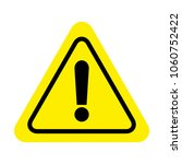 attention sign icon. warning... | Shutterstock .eps vector #1060752422