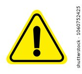 attention sign icon. warning... | Shutterstock .eps vector #1060752425