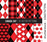 canadian vector patterns in... | Shutterstock .eps vector #1060767596