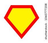 superhero logo template. red ... | Shutterstock .eps vector #1060777208