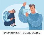 vector cartoon illustration of... | Shutterstock .eps vector #1060780352