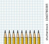 graphite pencils border over... | Shutterstock .eps vector #1060780385