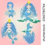 cartoon beautiful little... | Shutterstock .eps vector #1060780766