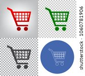 shopping cart sign. vector. 4... | Shutterstock .eps vector #1060781906