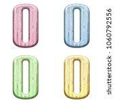 assorted pastel color wooden... | Shutterstock . vector #1060792556
