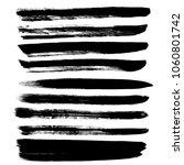 grunge hand drawn paint brush.... | Shutterstock .eps vector #1060801742