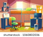 vector cartoon illustration of... | Shutterstock .eps vector #1060802036