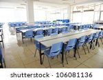 clean school cafeteria with...   Shutterstock . vector #106081136