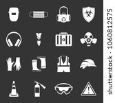 safety icons set vector white... | Shutterstock .eps vector #1060812575