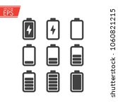 battery charging icons set.... | Shutterstock .eps vector #1060821215