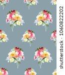 seamless summer pattern with... | Shutterstock . vector #1060822202