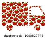 shipment van collage of tomato... | Shutterstock .eps vector #1060827746