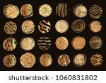 big set of vector golden ...   Shutterstock .eps vector #1060831802