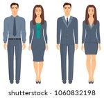 men and women standing in full... | Shutterstock .eps vector #1060832198