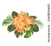 bouquet with tropical flowers... | Shutterstock .eps vector #1060834682