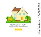 banner for sales  advertising... | Shutterstock .eps vector #1060835036