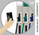 fuel dispenser and fuel nozzles ... | Shutterstock .eps vector #1060836875