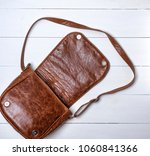 open female brown leather bag... | Shutterstock . vector #1060841366