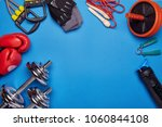 sport accessories. boxing... | Shutterstock . vector #1060844108