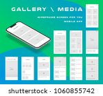 10 in 1 ui kits. wireframes... | Shutterstock .eps vector #1060855742