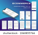 10 in 1 ui kits. wireframes... | Shutterstock .eps vector #1060855766