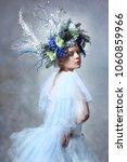 winter fairy or snow queen  ... | Shutterstock . vector #1060859966