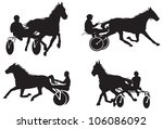 trotters race | Shutterstock .eps vector #106086092