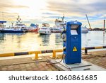 charging station for boats ... | Shutterstock . vector #1060861685