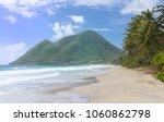 the caribbean beach  ...   Shutterstock . vector #1060862798