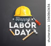 happy labor day banner. design... | Shutterstock .eps vector #1060863656